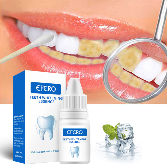 EFERO Teeth Whitening Serum Gel Dental Oral Hygiene Effective Remove Stains Plaque Teeth Cleaning Essence Dental Care Toothpaste 4