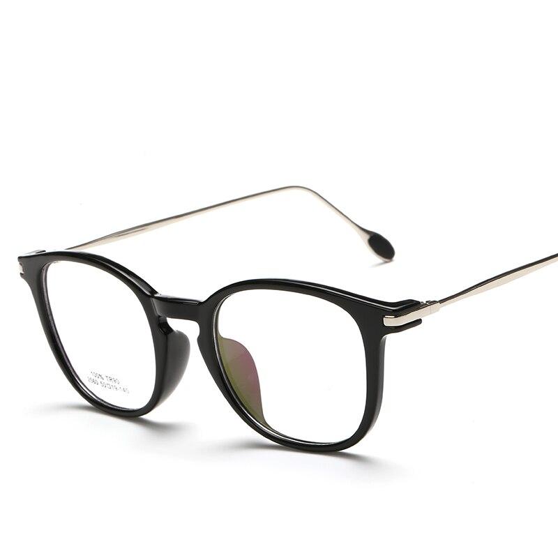Laura Fairy moda vintage ojo Gafas metal tr90 Marcos ópticos gafas ...
