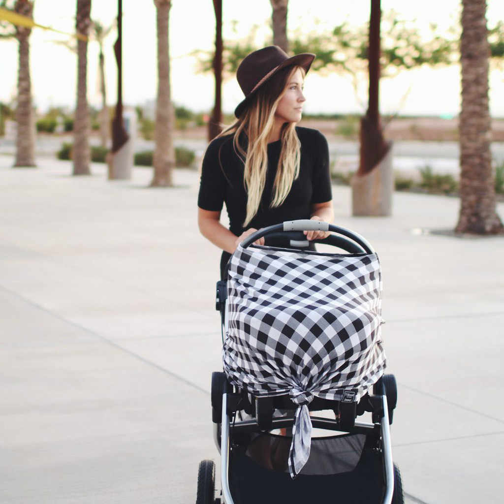 Borstvoeding Verpleging Cover Baby Rekbare Verpleging Borstvoeding Cover Multi Gebruik Autostoel Luifel Kinderwagen Baby Auto Seat Cover