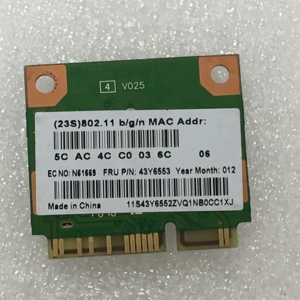 Новая сетевая карта SSEA для RealTek RTL8191se Half Mini PCI-E, беспроводная карта для IBM FRU:43y6553