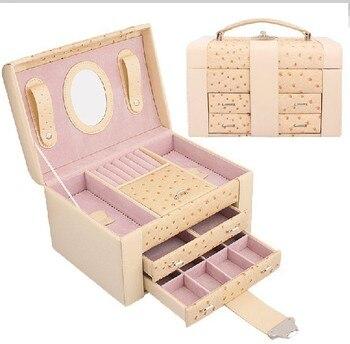 Free shipping new 2013 Europe type double jewelry box wedding gift