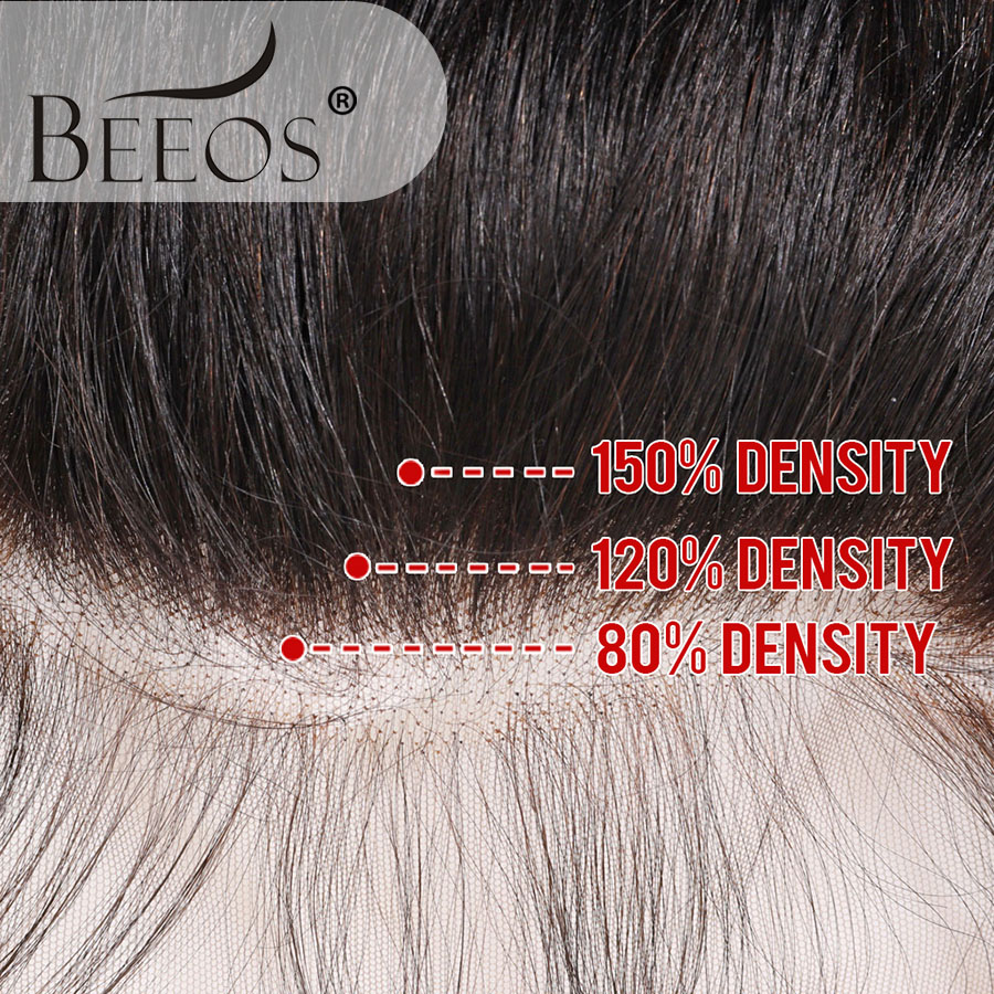Image 2 - Beeos Deep Part Ear to Ear 13x6 Lace Frontal Closure 8 20inch Brazilian Remy Human Hair Frontal Pre Plucked Bleached Knots-in Closures from Hair Extensions & Wigs