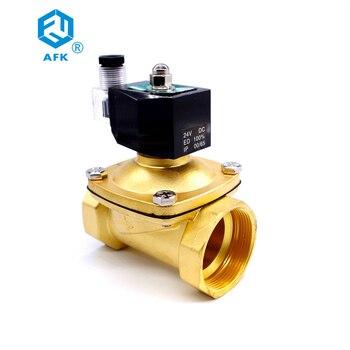 Brass Electric Control Valve 24VAC DN50 2 inch Gas solenoid valve 220v ac