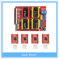 4x A4988 Stepper Motor Driver With Heat Sink CNC Shield Expansion Board For Arduino V3 Engraver