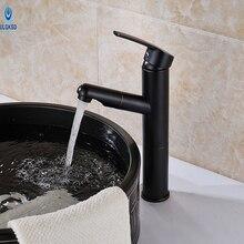 Ulgksd Новый стиль бассейна кран Pull Out опрыскиватель смеситель ванной кран для ванной раковина кран Одной ручкой масло втирают Бронзовый Отделка