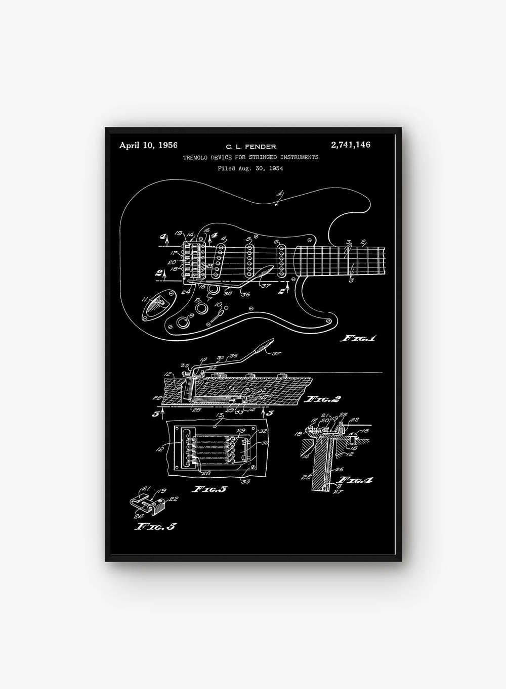 Fender Stratocaster Tremolo Wall Art Paint Wall Decor Canvas Prints Canvas Art Poster Oil Paintings No Frame