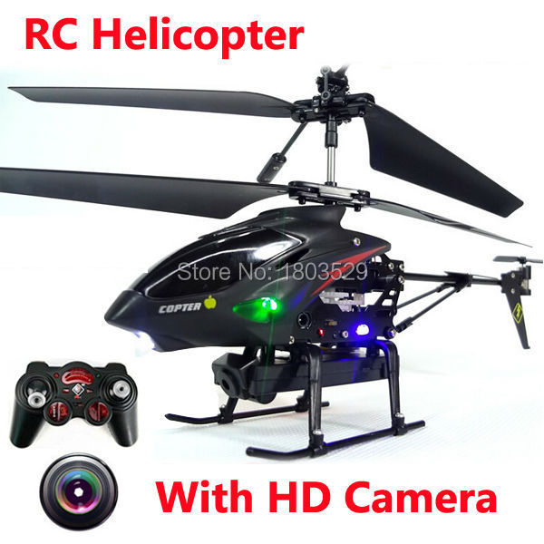 New Arrival S977 3 5 CH Radio remote Control Metal Gyro RC Helicopter With Camera Remote
