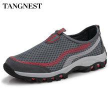 3ef5d4599 Tangnest 2017 novos homens sapatos malha respirável homens de várias cores  Slip-on Flats Rede