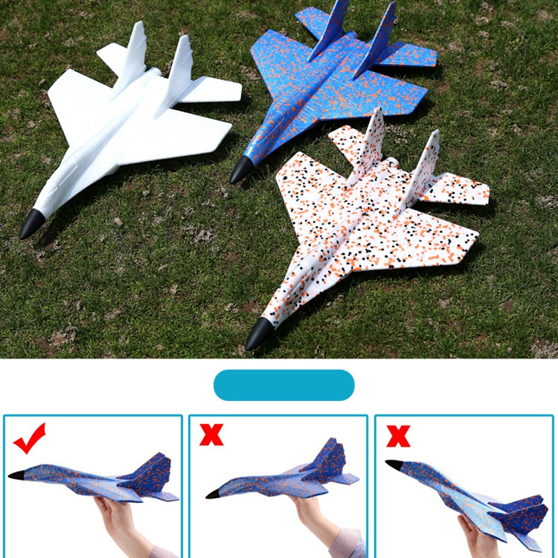 Image 3 - DIY Kids Toys Hand Throwing Model Airplane Foam Aircraft Stunt Luminous Education EPP Glider Fighter Planes Toys For Children-in Diecasts & Toy Vehicles from Toys & Hobbies