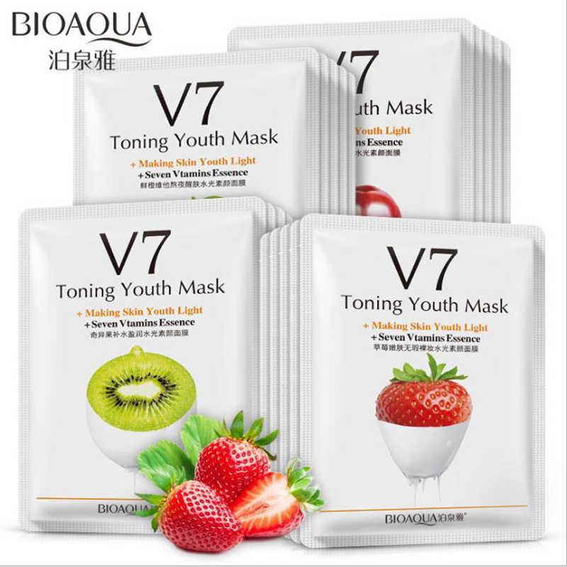 BIOAQUA красная гранатовая маска фрукты животные тушь для ресниц лица лечебная маска лист маски корейская косметика акне tony moly уход за кожей