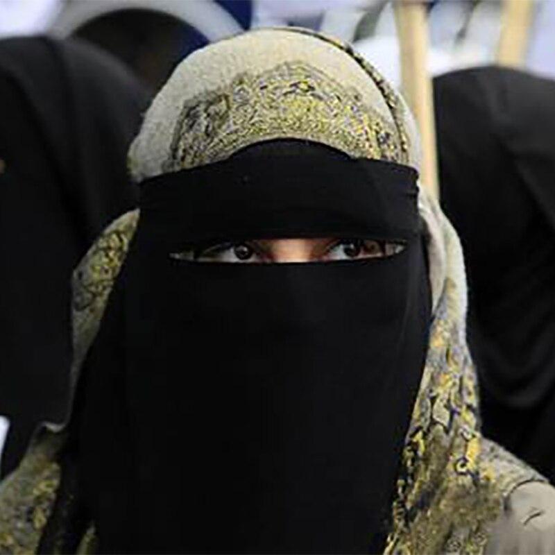 FBLUS CLURS One Layer Chiffon Niqab, Muslim Hijab Scarf Face Mask Wholesale