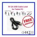 5 В 2A Usb-кабель Ведущий Зарядное Питания Для PIPO Макс M1 M5 M6 M7 M8 M9 Tablet Бесплатная Доставка доставка