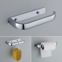 Stainless steel toilet paper holder wc paper hold toilet roll holder wall mounted by nails bathroom.jpg 200x200