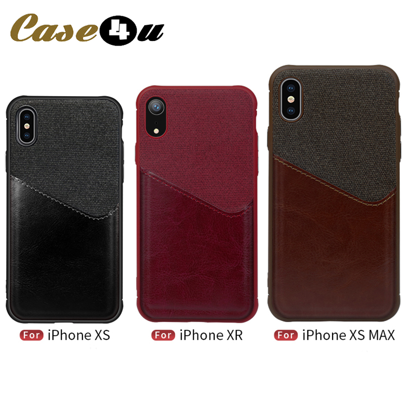 PU Leather Fabric Soft Phone <font><b>Case</b></font> For iPhone XS Max XR X 10 6 6s 7 8 Plus Wallet <font><b>Card</b></font> Slot Holder Phone Bag Canvas Back Cover image