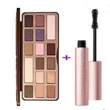 Eye Makeup Set too fac chocolate 16 Color Eyeshadow Palette chocolate Make up Palette + BETTER THAN SEX Mascara(China)