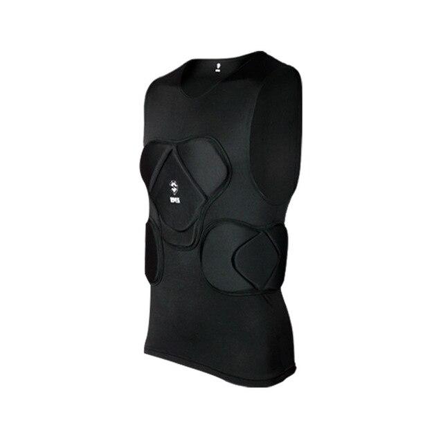 Регби вратарь футбольные майки тренировочные штаны наколенники EVA губка футболка для американского футбола наколенники защита голени сноуборд шлем - Цвет: black vest