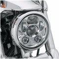 """Бесплатная Доставка 5 3/4 """"5.75 Дюймов Хром/Черный LED Проекция Daymaker Фара для Harley Sportster и Dyna"""