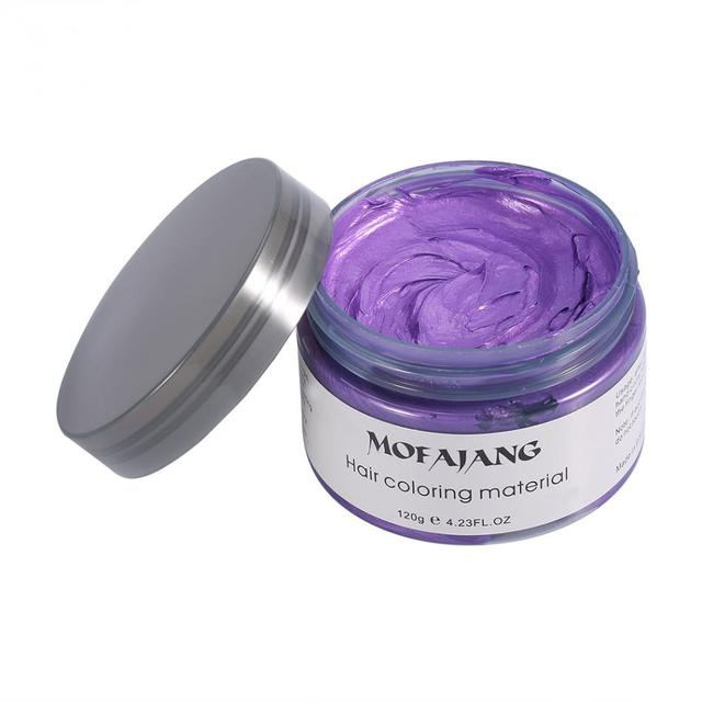 MOFAJANG One time DIY Color Hair Wax 7 Colors Temporary Hair Dye ...