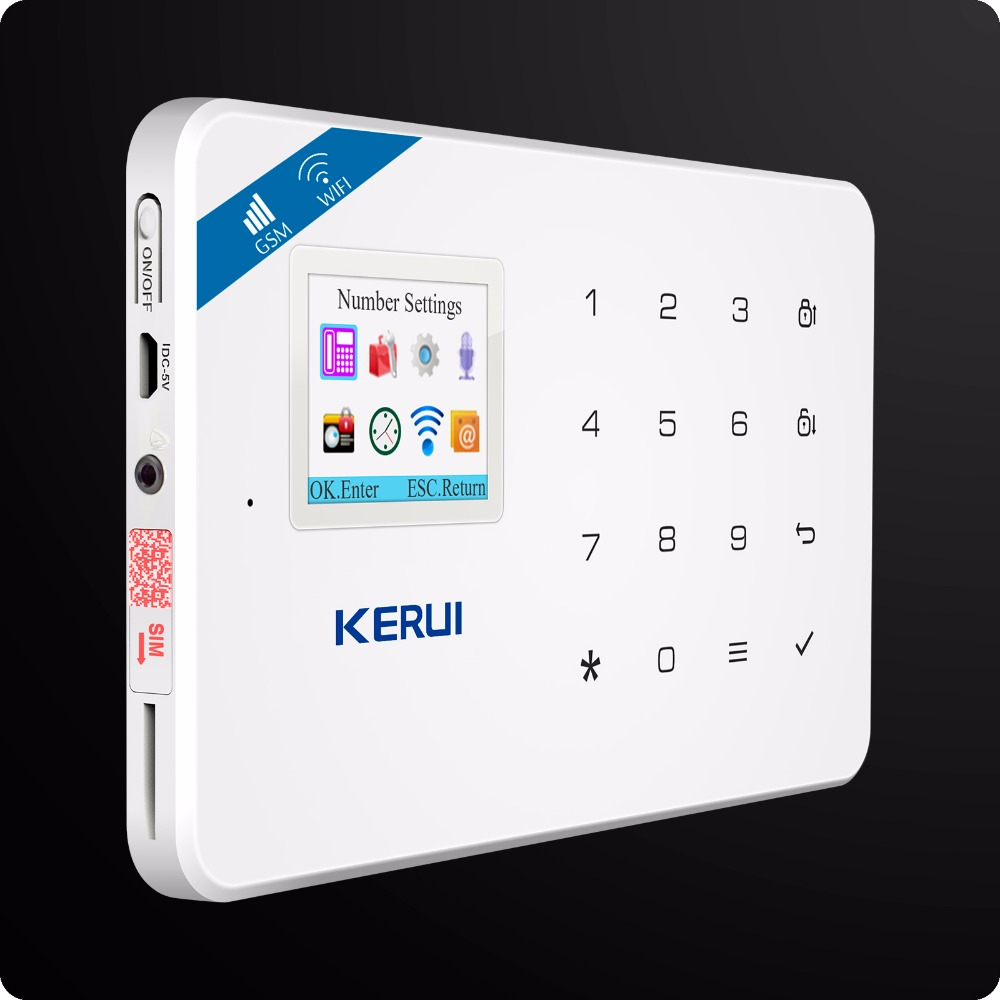Kerui W18 Wireless Wifi GSM Alarm Systems Security IOS APP  GSM SMS Burglar Alarm System Motion Sensor Russian Warehouse 1