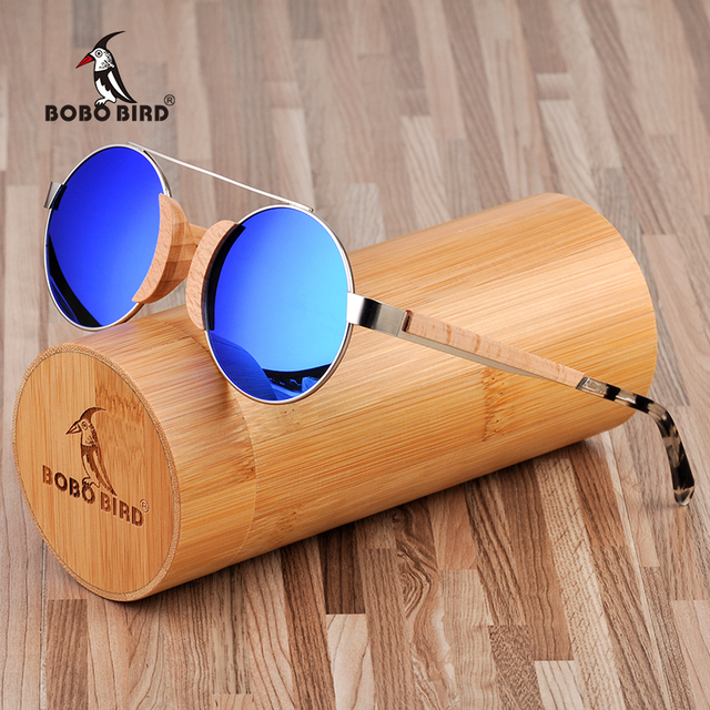 BOBO BIRD Wooden Handmade UV400 Polarized Unisex Sunglasses