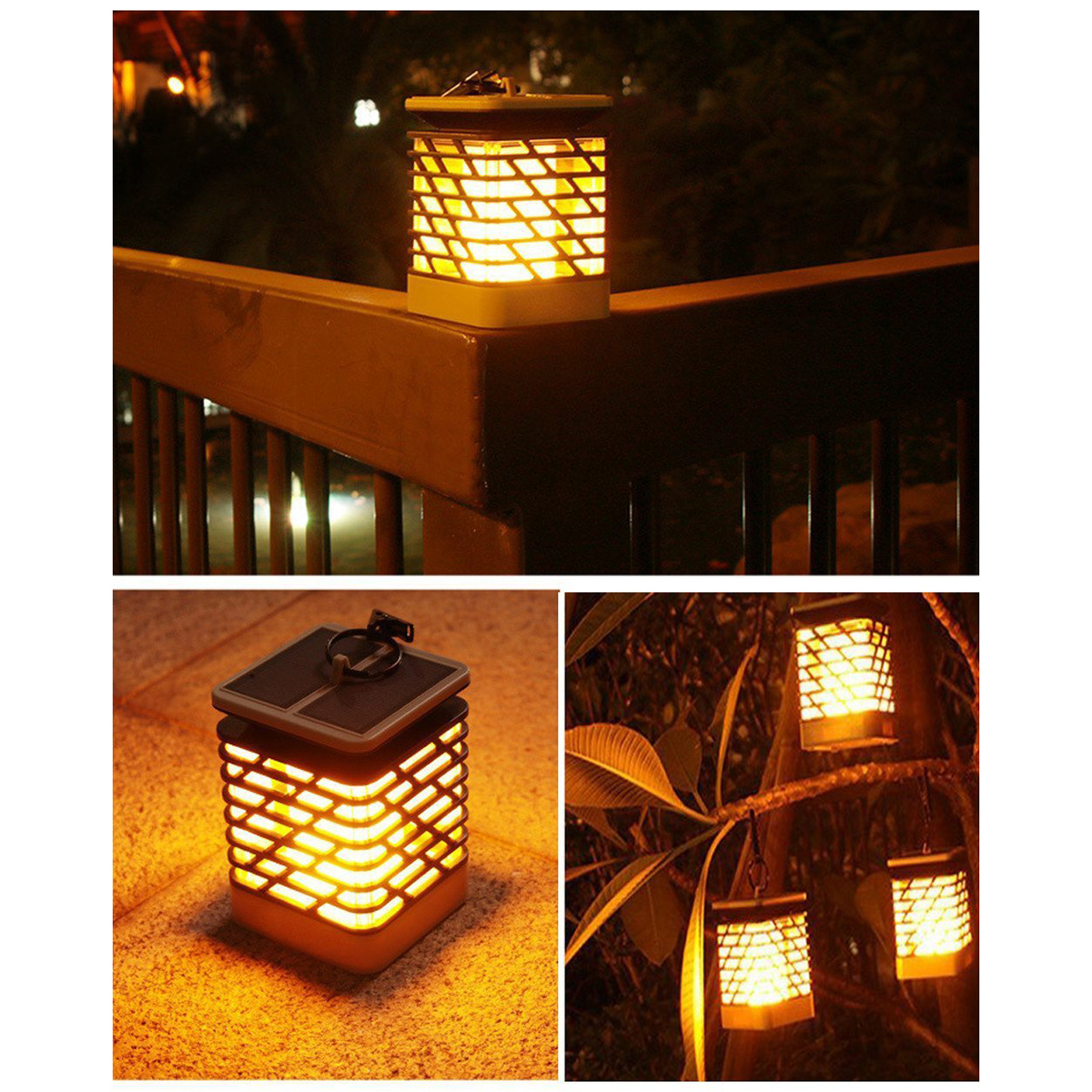 Solar Lights Outdoor Espier Led Flickering Flame Torch Lights Solar Powered Lantern Hanging Decorative Atmosphere Lamp For Pat Solar Lamps Outdoor Lighting