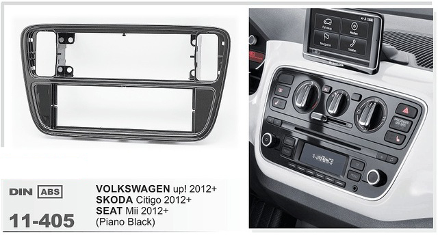 11-405 Car Radio Dash CD Panel for KIA SKODA Citigo VOLKSWAGEN up! / SEAT Mii Stereo Fascia Dash CD Trim Installation Kit car radio dvd cd fascia panel for faw oley 2012 stereo dash facia trim surround cd installation kit
