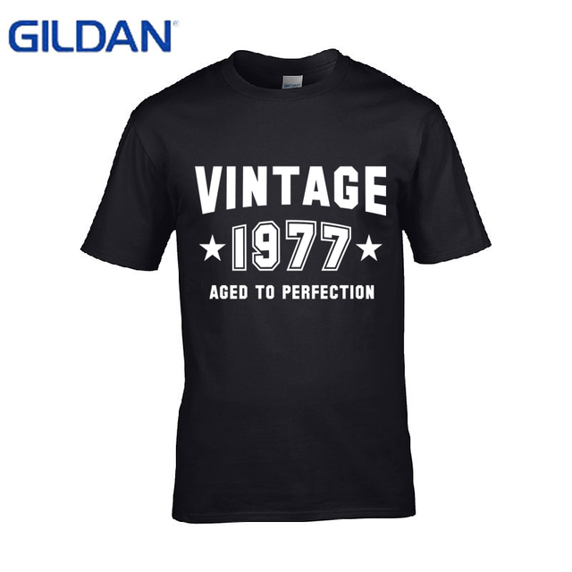 Designs T Shirt Men Made In 1977 All Original Parts Distressed Design 40Th Birthday Funny Large Pop