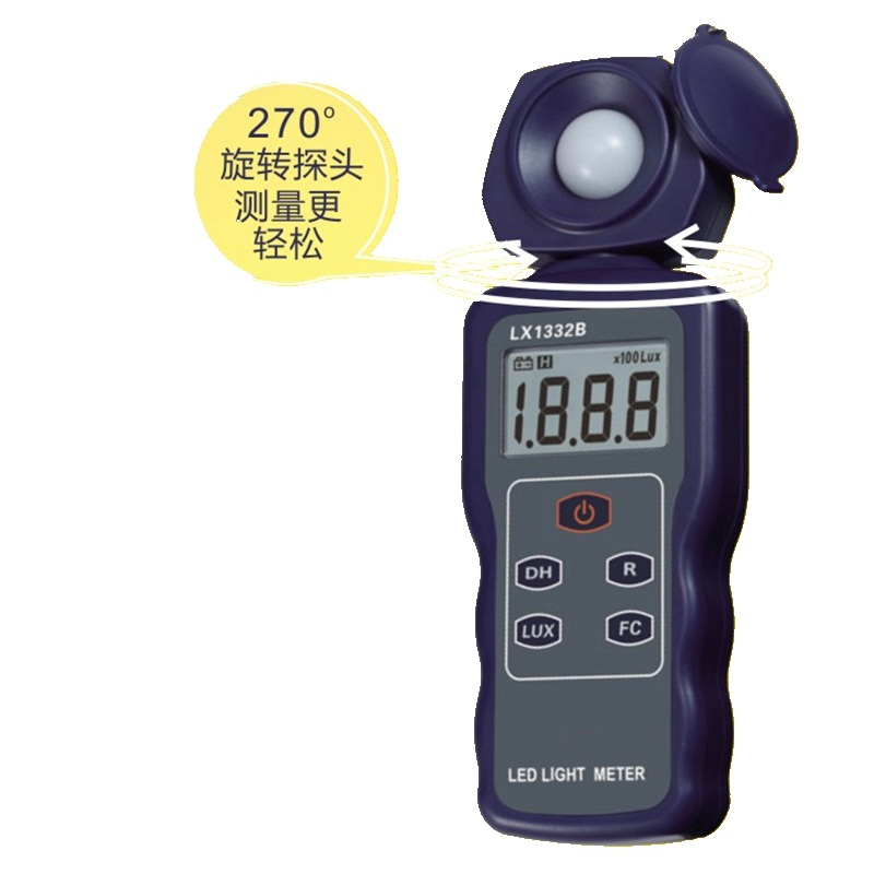Digital Lux Meter 200000 Lux LED Light Luxmeter Spectra Tester Auto Range Precision Lux FC Filter Lense Digital Illuminometer