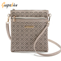 Guapabien Casual Small Messenger Bags Ladies Shoulder Purse PU Floral Hollow Out Crossbody Bags and Handbags bolsas feminina
