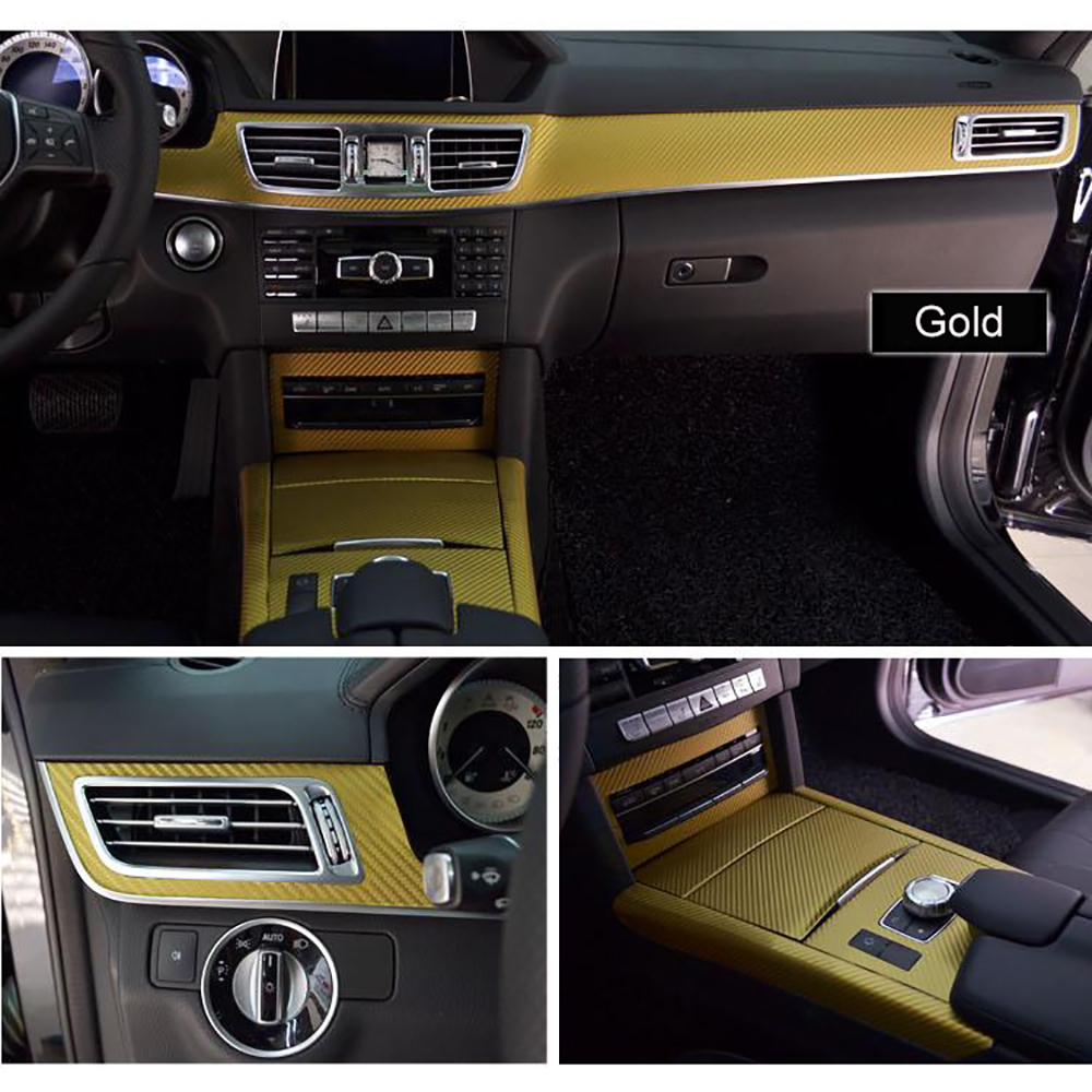 Interior Central Control Panel Carbon Fiber Protection