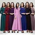 Djellaba Nenhum Adulto Para As Mulheres Venda Abaya Turco 2016 Ropa Mujer Real E Abayas Muçulmano Feminino Longo-Vestido de mangas compridas estilo Serviço