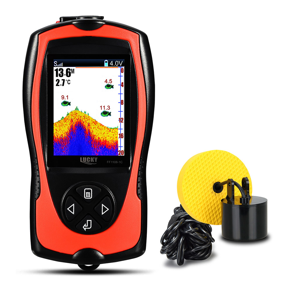 LUCKY FF1108 - 1CT Portable Fish Finder 45 Degree Sonar Detection Automatic Storage Function Fishing Gear