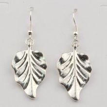 20 Pair Tibetan silver Zinc Alloy Tree Leaf Drop Earrings 52*18mm YS1019 er 5302 women s fashionable leaf style zinc alloy earrings green pair