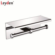 leyden toilet paper holder stainless steel wall mounted polished chrome double with mobile phone holder shelf bathroom accessory