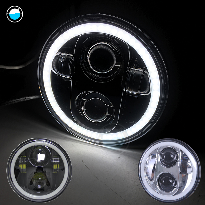 5.75 inch Daymaker motorcycle headlights Angel eyes for Harley Davidson 5 3/4'' LED halo headlight For Sportster Iron 883.