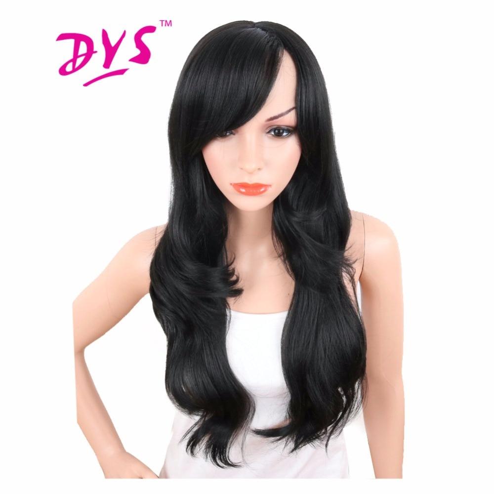 Deyngs 28inch Lång Body Wave Syntetiska Paryk För Svarta Kvinnor - Syntetiskt hår