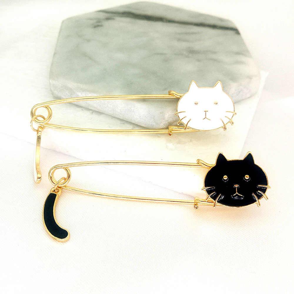Suki Kucing Manis Bros Lucu Paduan Seng Enamel Bros Pin untuk Wanita 2019 Baru Fashion Perhiasan Pakaian Kerah Aksesoris Anak Perempuan