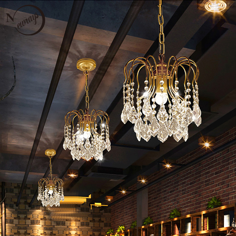 Большие винтажные кристаллические канделябры в американском стиле, в стиле ретро, черного/золотого цвета, современные E14/E27, блестящие лампы...
