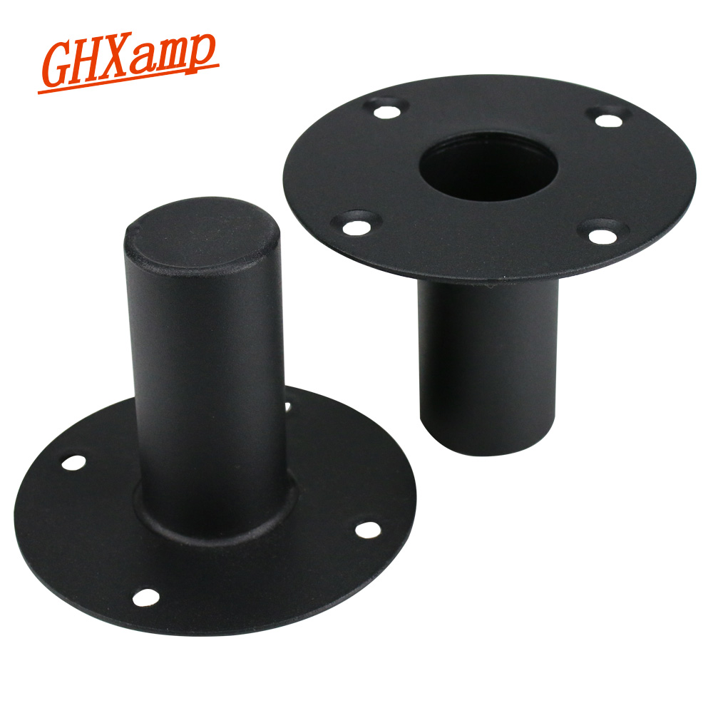 GHXAMP Professional Speaker Stand Metal Iron Bottom Seat Stage Sound Stand Mounting Hole Tray Base For Below 15 Inch Speaker 2PC