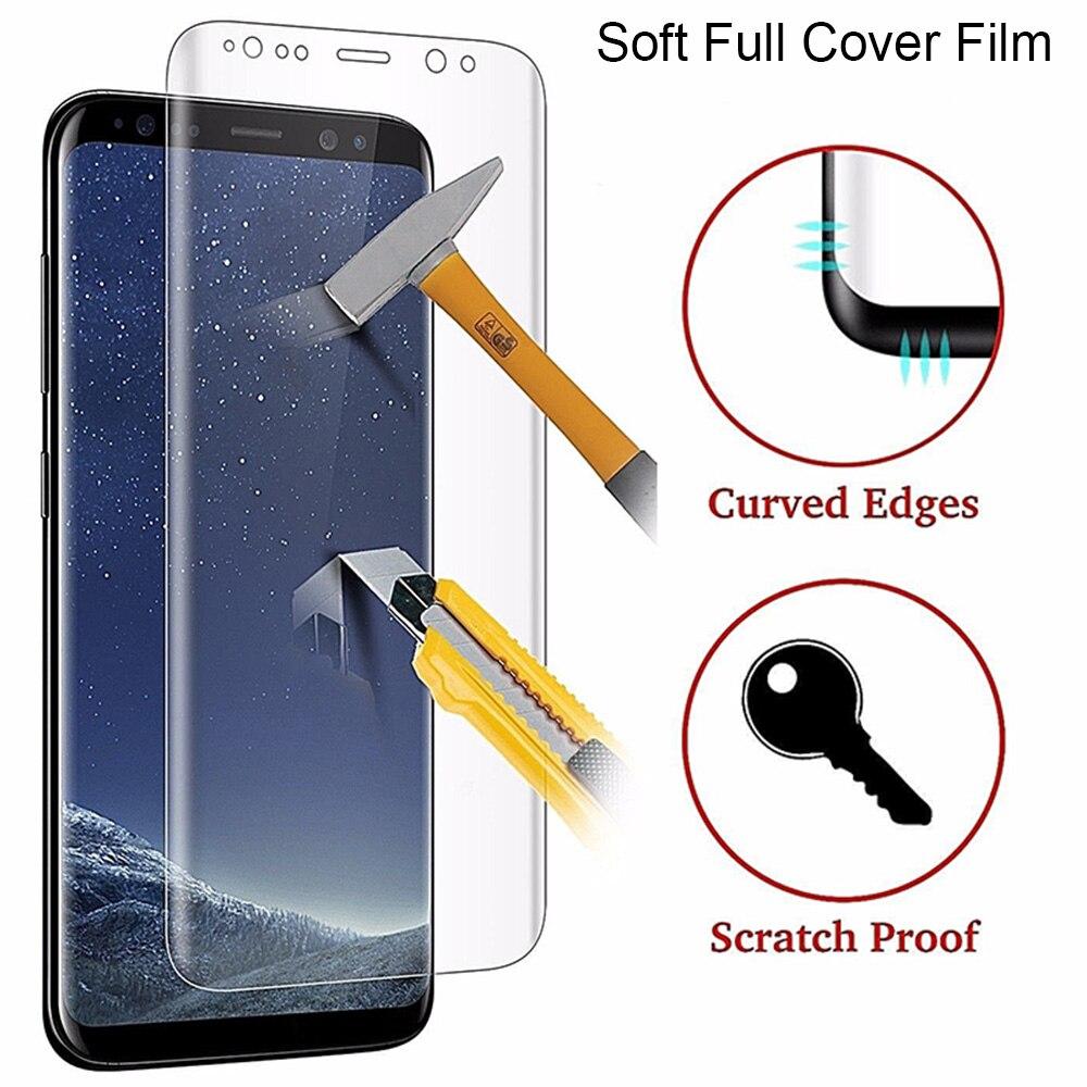 HD מלא כיסוי מסך סרט עבור Samsung Galaxy S6 קצה S8 S9 בתוספת הערה 8 שקוף רך מגן סרט על סמסונג S7 קצה