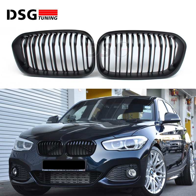 F20 LCI carbon fiber and ABS front bumper grille for BMW facelifted F21 120i 118i 118d 116i M135i 2015 - 2018 for bmw 3 series e46 2door facelifted coupe 2004 2005 2006 carbon fiber black front grille grill left
