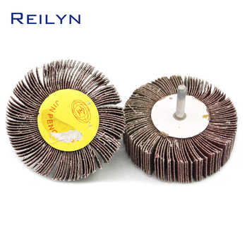 2 PC sand paper polishing wheel 6 x 80mm abrasive mops-wheel spindle mops mounted flap wheels grinding bits abrasive block - DISCOUNT ITEM  6% OFF Tools