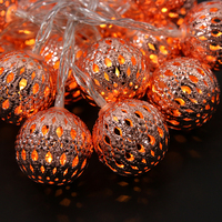 2m Ball Outdoor LED String Light 20PCS Gold Rose LED Light For Holiday Decoration Battery Operated