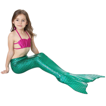 Girls Swimsuit Girls 3 Pieces Sets Swim Clothes Girl Bathing Suit Kids Little Mermaid Cosplay Swimwear Children Swimming Suits