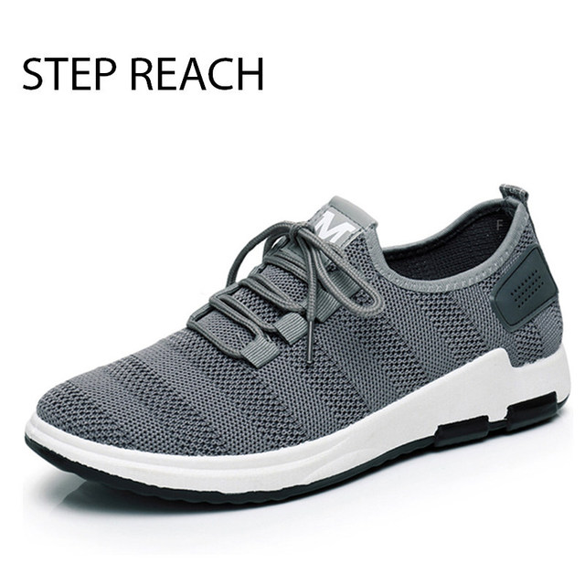New Men Casual Shoes Lace up Fashion brand Mesh Spring Summer shoes Flats Solid Men Breathable shoes man