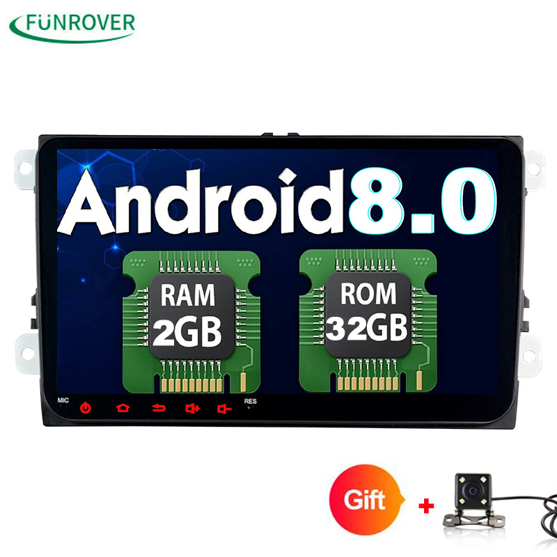 Funrover 2 Din 9 inch Quad core Android 8 0 font b car b font dvd
