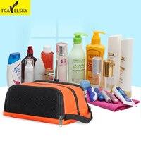 Mujer neceser impermeable material de nylon para las mujeres maquillaje cosmético del bolso de gran capacidad de 5 colores envío libre 13544
