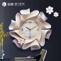 beautiful resin flower wall clocks best selling 2018 products wall clocks home decor modern decor wall watches free shipping