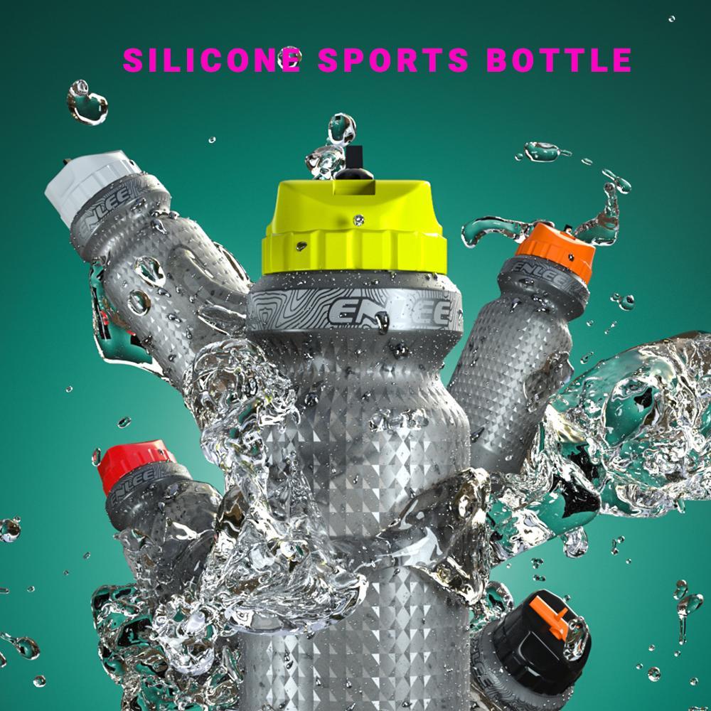 650 мл 70 г силиконовая Спортивная бутылка для горного велосипеда бутылка для воды чайник фляга Спортивная бутылка
