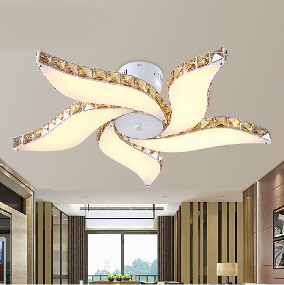 Free Shipping Modern Luxury Flower Design Lustres Home Decoration Lighting  Large Led Ceiling Lamps